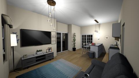 Living and Dining Room - Modern - by BrookieCookieBarrett