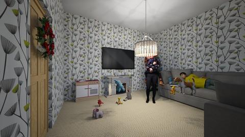 christmas eve room - Living room  - by Marilovesdogs123