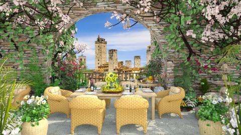 Design 95 Al Fresco Dining in Tuscany - Garden  - by Daisy320