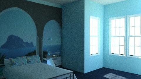 Simple Blue Bedroom - Minimal - Bedroom - by iwoolnough