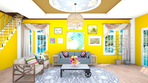 On Summer - Vintage - Living room  - by fifi sefriyani