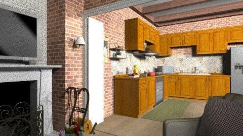 rustic living vista kitch - Classic - Kitchen  - by Maria_Julia