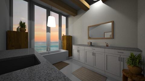 vibe island bathroom - Bathroom  - by misoatemycookie