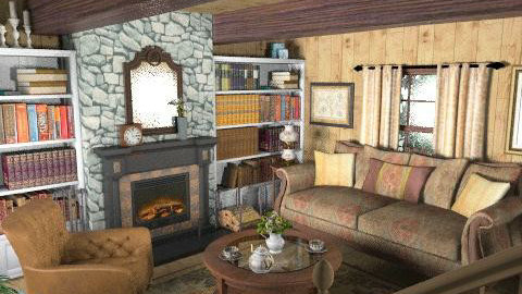 summer - Rustic - Living room  - by carnivalcadet