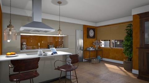 Caramel Kitchen - Modern - Kitchen  - by Claudia Correia