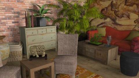 Bohemian Living - Rustic - Living room  - by kishwick