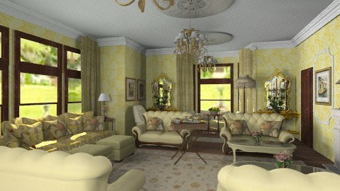 castle drawing room - Classic - Living room  - by auntiehelen