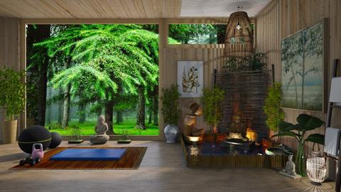 Home Yoga Sanctuary  - by  krc60