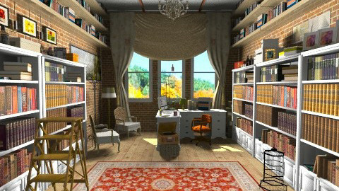 library - Rustic - by zoranaNS