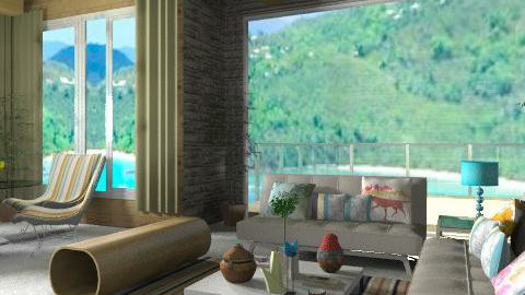 Beach Housee - Rustic - Living room  - by deleted_1524682245_beverly_jb
