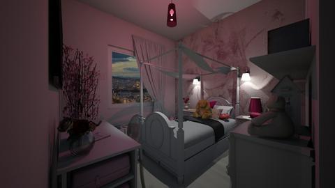 Bed Girl - Bedroom - by Art3miys