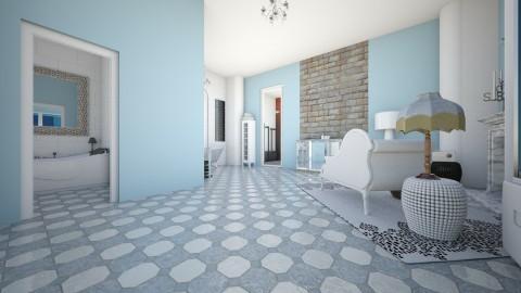 Warm Blue - Eclectic - Bathroom  - by decordiva1
