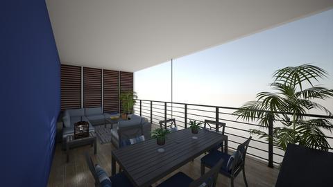 blue balcony - Garden - by edataman