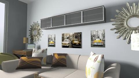 joe apt 3 - Retro - Living room  - by babywantsbling