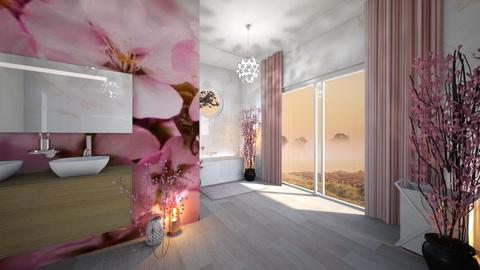 Cherry Blossom Bathroom - Bathroom  - by Dragonets of Destiny