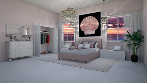 Shell Pink Bedroom - by fippydude