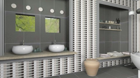 bathroomgrey - Modern - Bathroom  - by macus