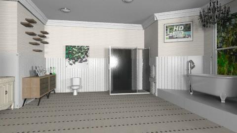 the old style master bath - Retro - Bathroom  - by dezhero