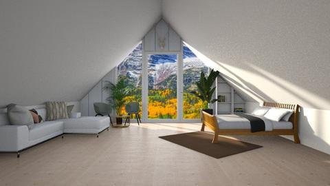 Cabin Attic - Living room  - by kitacat