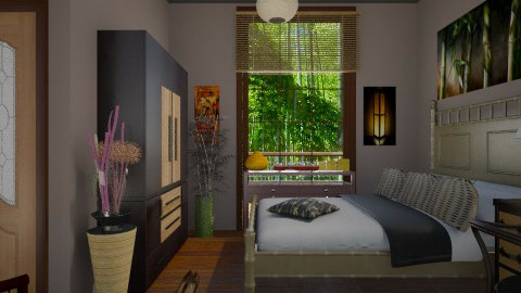 Bamboo room - Eclectic - Bedroom  - by milyca8