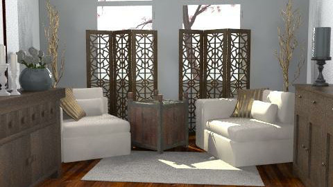 Reading room revamp - Classic - Living room  - by hunny