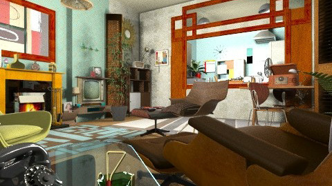50 50 - Retro - Living room  - by katmills98