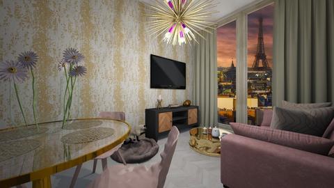 Luxury dusk - Feminine - Living room  - by InteriorDesignDominica