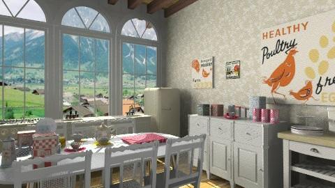 Breakfast with Grandma - Kitchen - by beabiabolhas