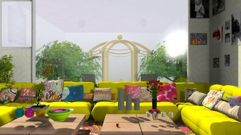 hippy house - Vintage - Living room  - by annabeth