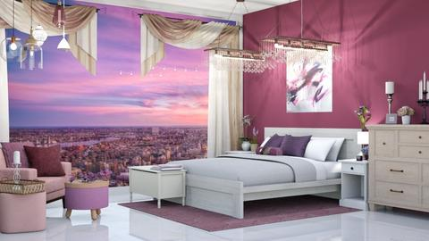Pink and Purple Bedroom - Bedroom  - by Parisrosali