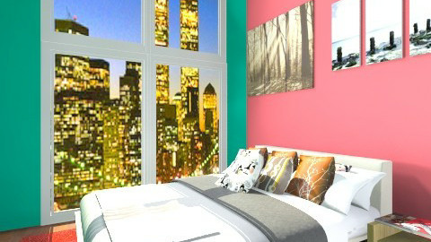 green room apartment  - Retro - Bedroom  - by Hayat Ahmed