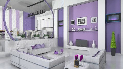 Purplish Luxor - Living room - by Kavish