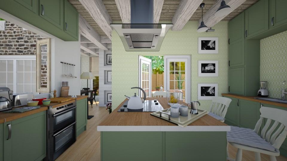 Big Family Kitchen - Country - Kitchen  - by christoforos