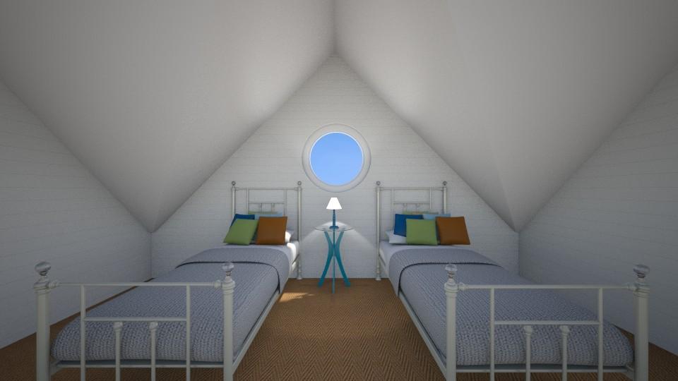 Hamptons Twin Bedroom - by bellm
