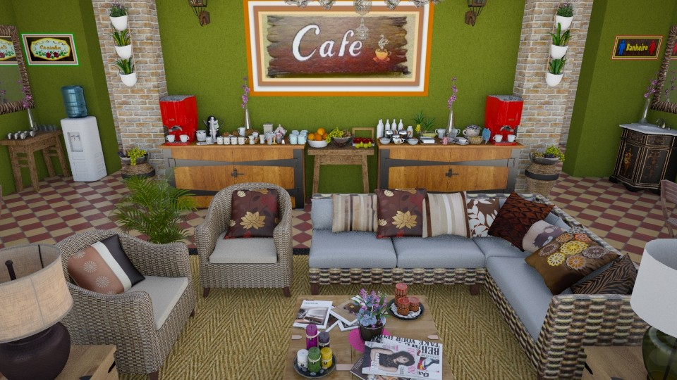 MS Cafeteria - Rustic - Dining room - by Mariesse Paim