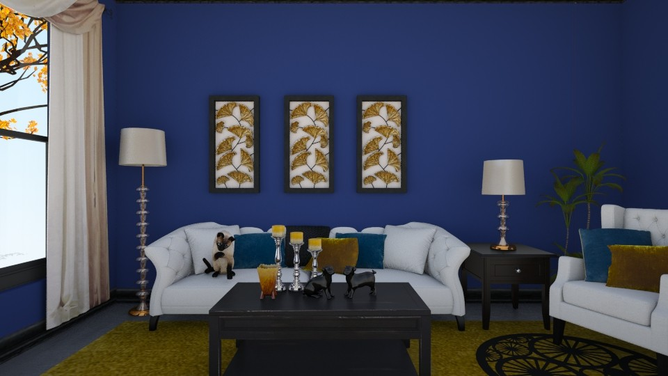 Im Blue - Living room - by Sandra Janeth