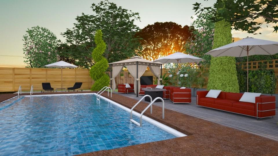 Pool on the Backyard - by JarkaK