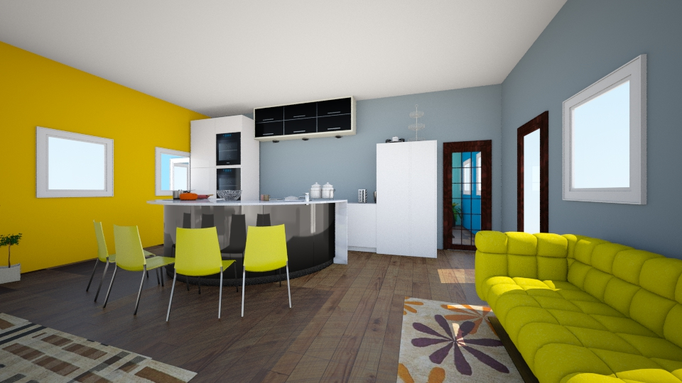color yellow - Kitchen - by CasuallyCrystalClear