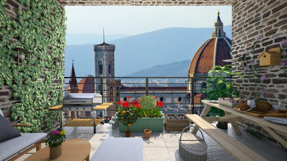Florence Balcony - Garden - by saraellex