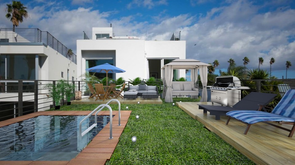 Venice beach yard - Eclectic - Garden - by UloveTashi Designs