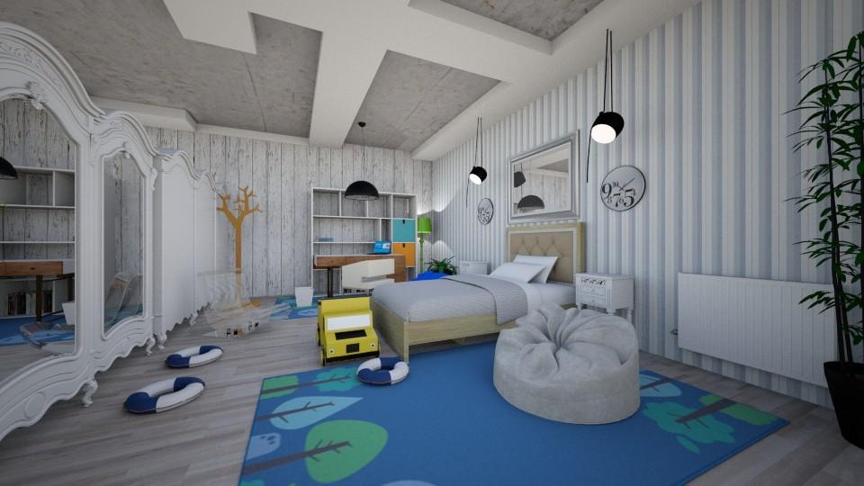 kids room double space - Kids room - by Nikos Tsokos
