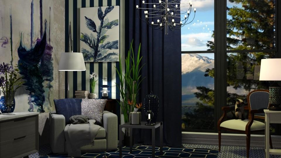 blue - Living room - by randomglitter