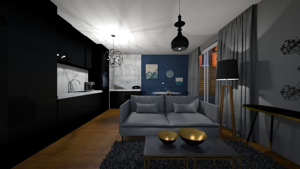 Milan - Minimal - Living room  - by agnieszka_giez