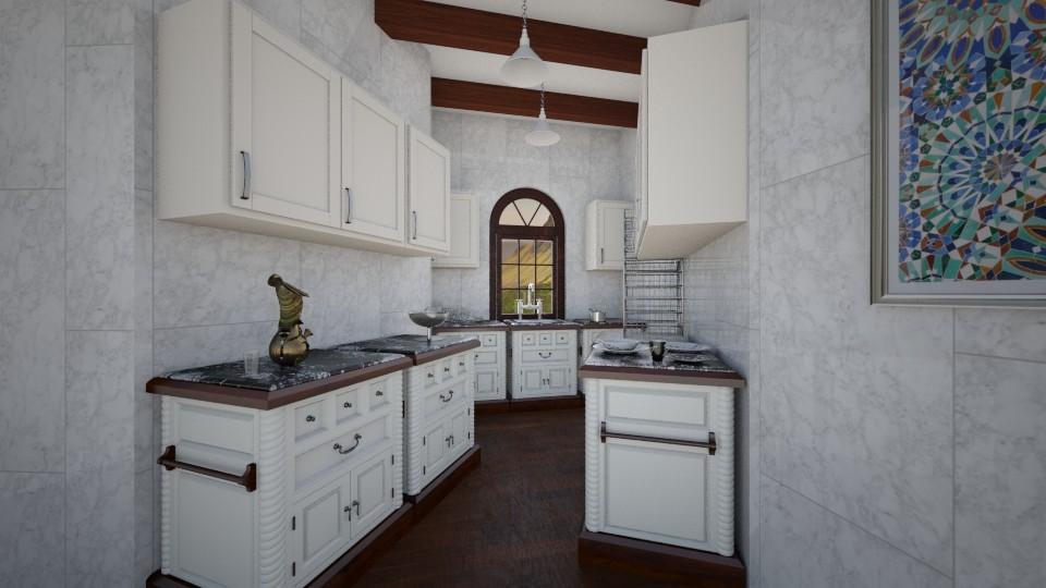 Marbled Kitchen - Kitchen - by Cairalacas