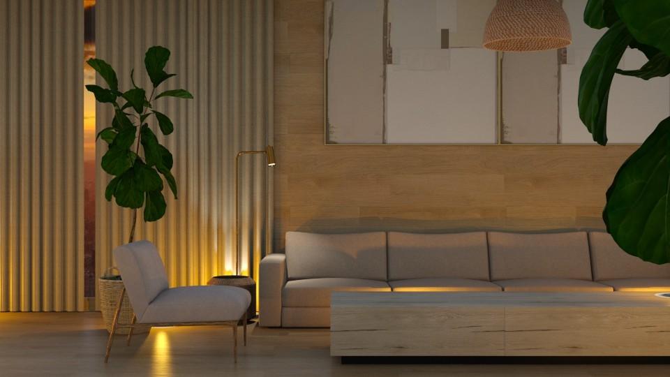 Sunset Light  - Living room - by CatsFurLife