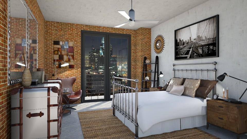 Sleepless in Los Angeles - Retro - Bedroom - by LadyVegas08