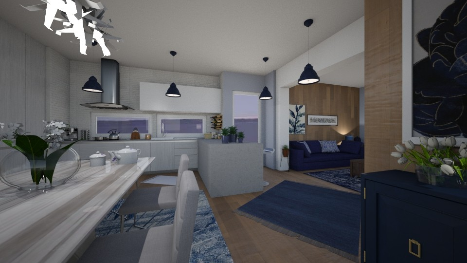Apartment 1 - Living room - by Vasiliki Stagkidou