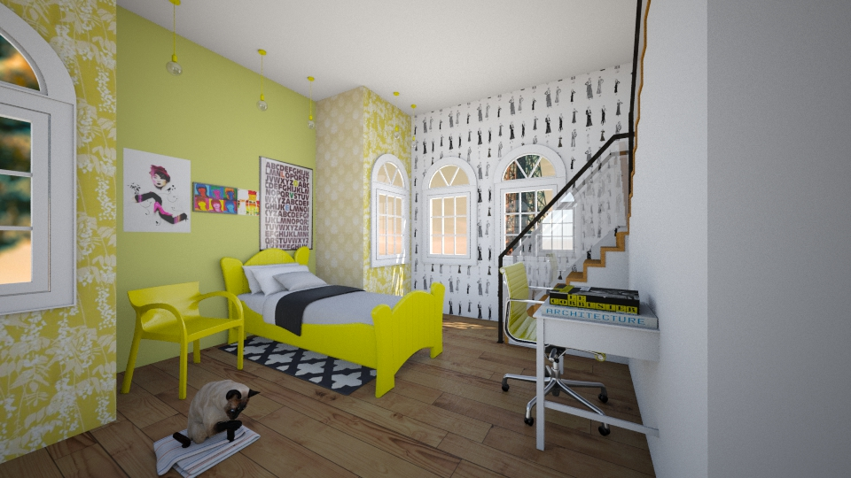 Yellow Bedroom - Bedroom - by Sunny Bunny