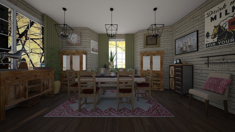 country dining - Country - Dining room - by kla
