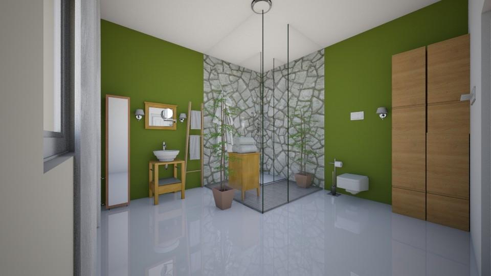 Indian Ivy Bathroom - Bathroom - by aila auk